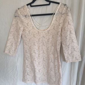 Free People Tops - Intimately FP fitted lace shirt